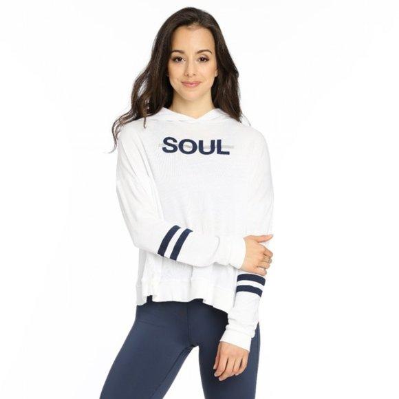 Soulcycle Soul Star Stripe Cross Back Hoodie
